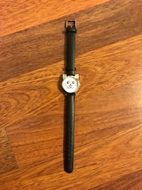 Cat watch with black leather strap Edmonton, T5A 0B4