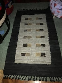 Black and white rug hand tied with a tinge of gold Saint Louis, 63146