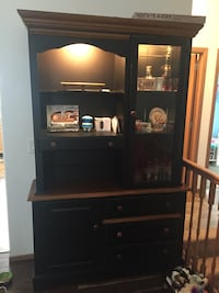 Black wooden China cabinet
