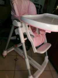 baby's pink and white highchair Elk Grove