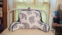 Elephant items lot, backrest, pillow and memo board Athens