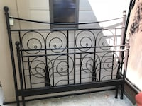 Crate & Barrel Queen size iron rod bed frame Campbell