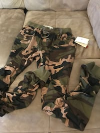 camouflage printed pants slim fit size L brand new