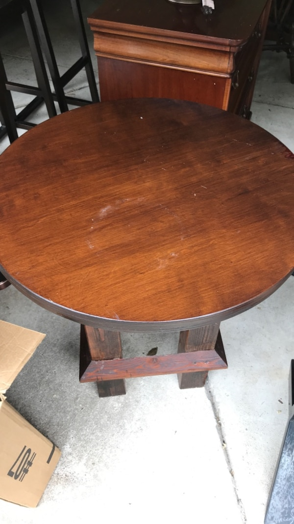High end wood patio table or indoor