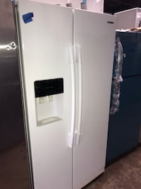 "Samsung 36x70"" side by side refrigerator 90 days warranty working perfectly  Baltimore, 21215"