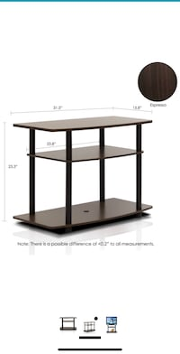 During Turn-N-Tube 3-tier TV stand Des Moines, 50309