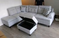 Brand New Grey Linen Sectional Sofa +Storage  Silver Spring, 20910