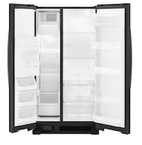 Black side-by-side refrigerator with water dispenser Royal Palm Beach, 33411