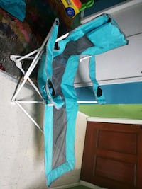 teal and gray camping chair Queens, 11373