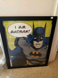 Batman poster framed
