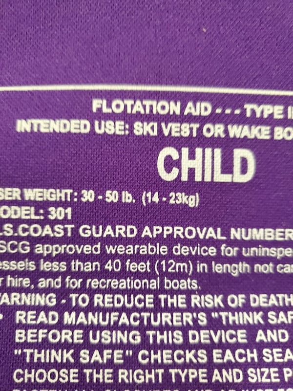 CHILD FLOTATION JACKETS - buy individually as priced or both as bundle 6581e4e8-8699-444f-b140-4934e423db70