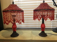 Two red table lamps Los Angeles, 90044