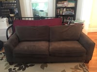 brown suede 2-seat sofa Olney, 20832