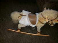 brown and white rocking horse Hazel Green