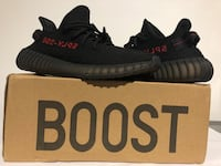 adidas yeezy boost 350 v2 Black Red UK 9 | US 9.5 with box London, W12 8AP
