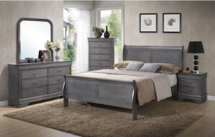 BRAND NEW LOUIS PHILLIPE QUEEN BEDROOM SET 5 pcs
