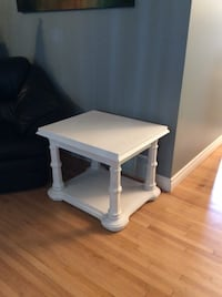 White solid wood side table or night table $100 or best offer Regina, S4W 0C1