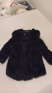 black fur fur zip-up hoodie Elmwood Park, 07407