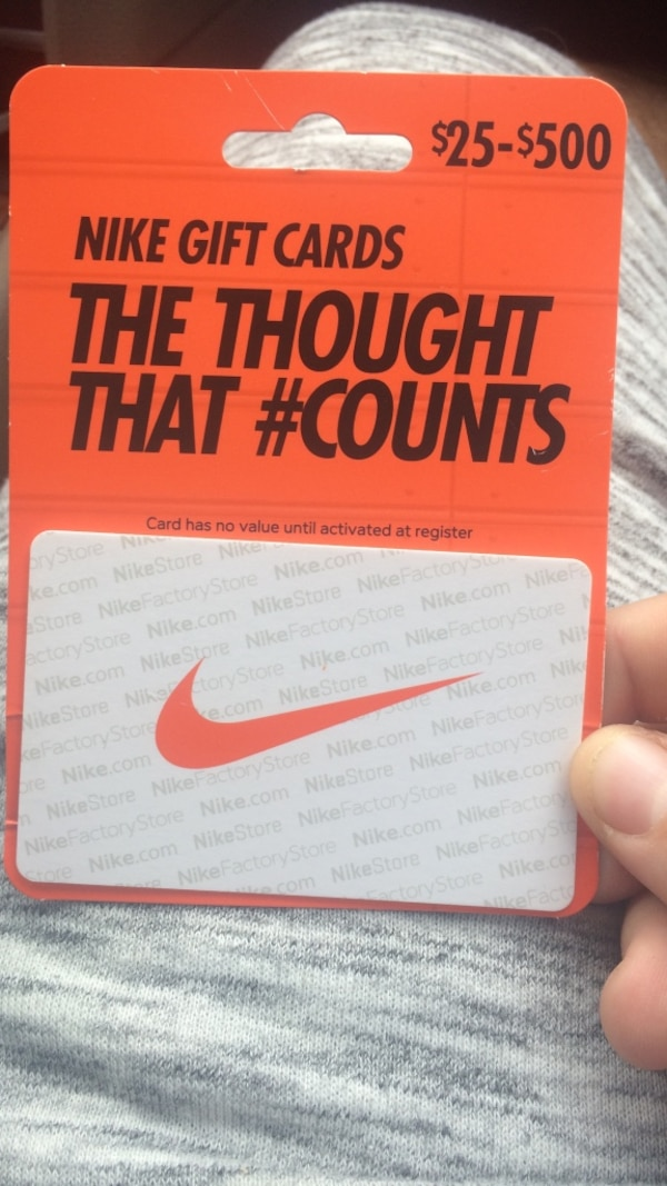 new product 7ab24 9dd61 Used nike gift cards the thought that  counts gift card  for sale in Venice  - letgo