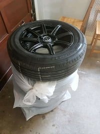 Rtx rims polished black with tires Barrie, L4M 1P1