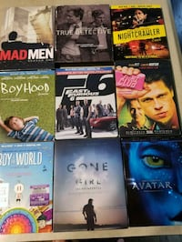 9 movies and TV DVD or BD Surrey, V4P 0C3