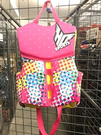 Children's pink, yellow, green and blue life vest Surrey, V3R 0B4