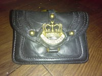 black leather Juicy Couture hand bag