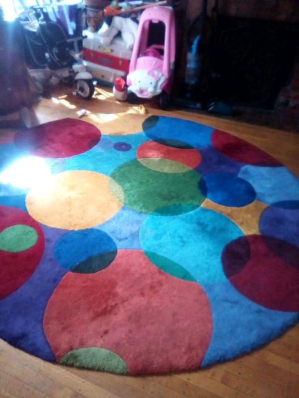 Used Blue Red And Yellow Area Rug For Sale In Oakland Letgo