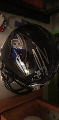 Signed Ravens mini helmet by Torrey Smith Towson, 21286