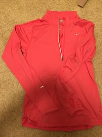 Pink coral running shirt Nike size small