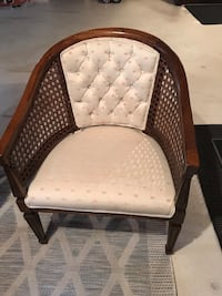 Beautiful cream fabric with wood frame accent chair  Vaughan, L4K 5H8