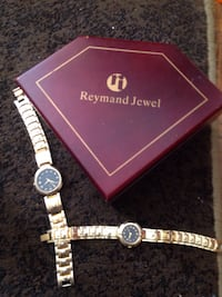 His and hers gold plated watches