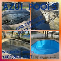 pool service cleaning painting repair Orlando