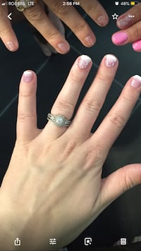 Canadian diamond engagement/band combo Vancouver, V6P 6L2