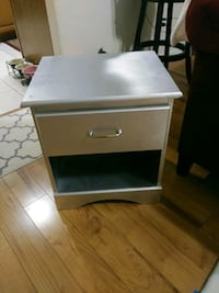 white and black wooden 2-drawer nightstand Houston, 77089
