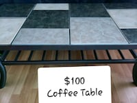 Coffee Table - Tiles & Metal - Great Condition Vaughan, L4L 8K5