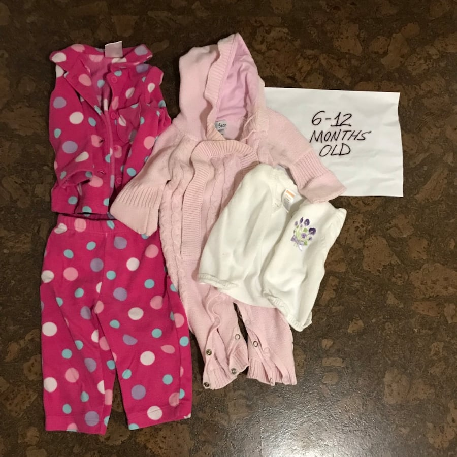 6-12 Months old baby girl clothes
