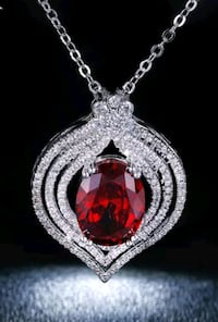 $8 NEW silver plated CZ statement necklace  Ballwin, 63021