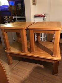 Solid wood coffee table with 2 side tables  Ottawa, K2H 8P6