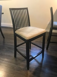 brown wooden framed white padded chair Vancouver, V5Y 1Y2