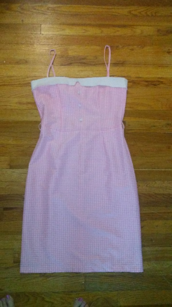 Pinup Girl Clothing size XL Pink Gingham sleeveless wiggle dress