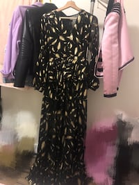 Gold feather dress Los Angeles
