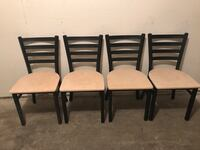 Metal frame restaurant chairs with solid wood seats. 4 chairs . Garland, 75043