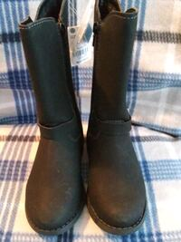 Soft leather boots for girls