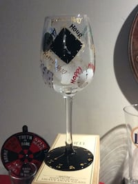 white and black wine glass Mount Airy, 21771