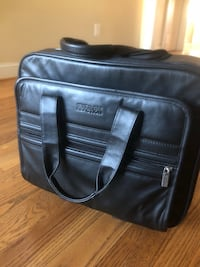 Black leather rolling briefcase Arlington, 22207