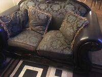 Brown and black floral fabric sofa chair Westminster, 92683
