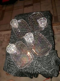 Set of 4 1960s Rainbow Iridescent Opalescent Glass Tea Cup / Punch Cup Albuquerque, 87104