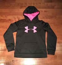Girls Hot Pink & Black Under Armour Hoodie - Youth Medium  Calgary, T3K 5X7