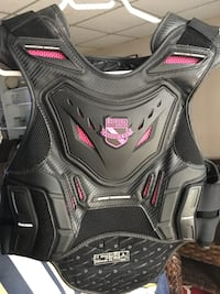 Black and pink motorcycle vest - ASAP
